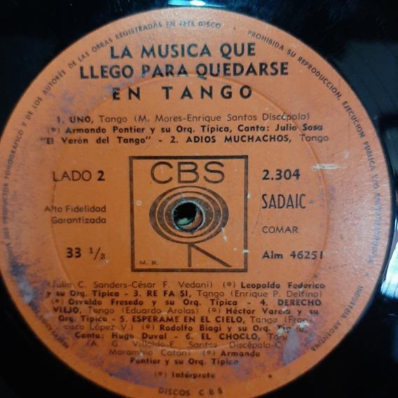 Sin Tapa Disco La Musica Que Llego Para Quedarse Tango T1