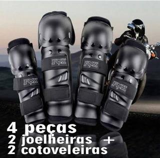 Joelheiras E Cotoveleiras Fox Moto Bike Cross Bicicleta Mp3