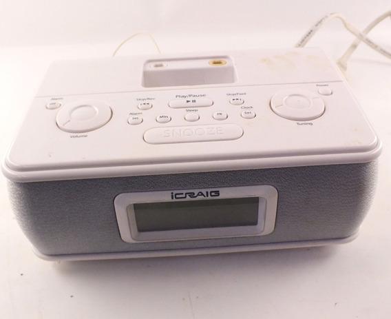Radio Relogio Icraig Entrada Para iPod Mp3 Audio A8764