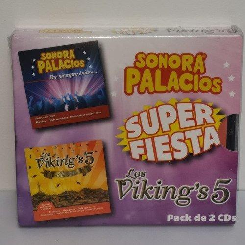 Sonora Palacios Los Viking's 5 Super Fiesta 2 Cds Nuevo