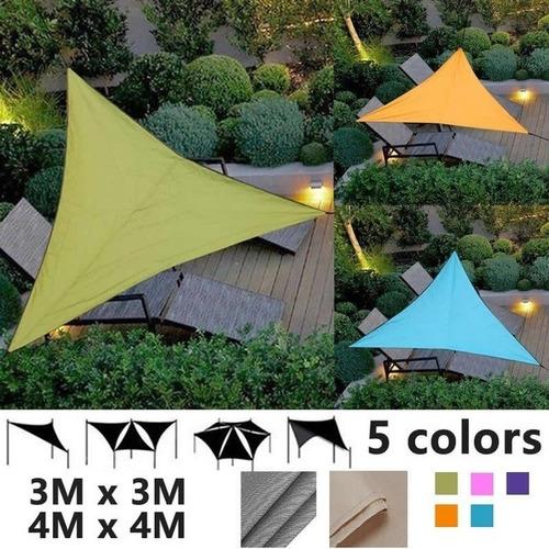 Triangle Shade Sail Garden Patio Toldo Piscina