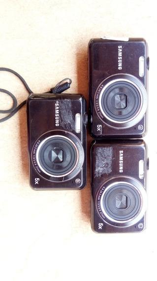 Lote 03 Cameras Digitais Samsung Es68 Com Defeito Para Retirar Peças