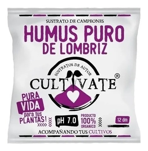 Humus De Lombriz Cultivate 12l 100% Orgánico