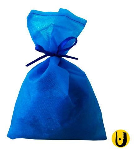 30 Saquinhos Sacolinhas Tnt 15x23 Azul Royal Fita Royal