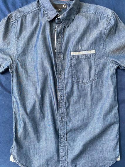 Camisa Guess Azul Mezclilla