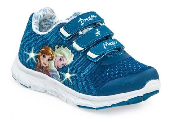 Zapatillas Addnice Niña Flex Frozen Snow Con Luz Turquesa