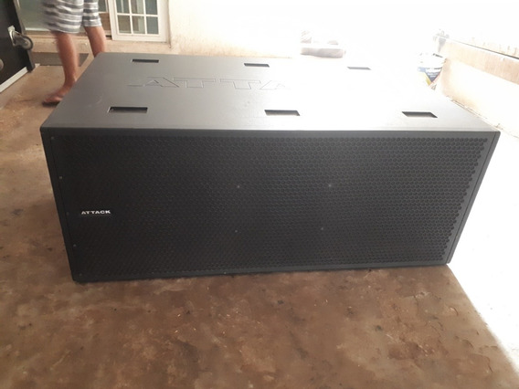 Caixa De Som Amplificada Attack Array Verticon S 218 D