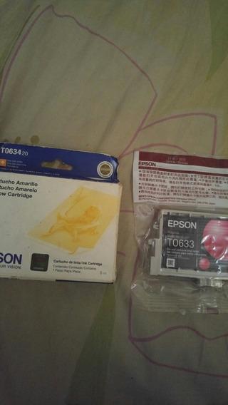 Cartuchos Epson Colores Amarillo Rosa Y Negro