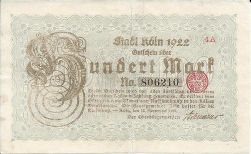Imagen 1 de 2 de Alemania 100  Marcos 1923