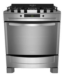 Cocina Whirlpool WF976XC 5 gas natural acero inoxidable puerta visor 103L