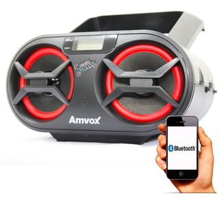 Rádio Amvox Amc-595 Cd Usb Aux Bluetooth Fm 15w Rms