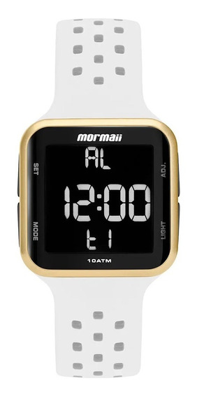 Relógio Mormaii Unissex Digital Branco Prova D