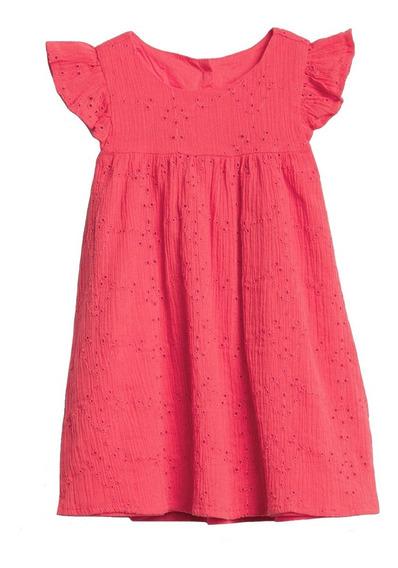Vestido Niña Casual Bebé Manga Corta Algodón Rosa Gap