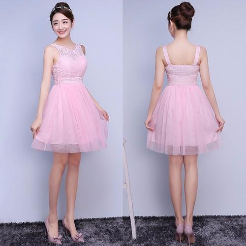 Vestido Pink Delicado Fashion Grados Fiesta Cocktail Bridesm