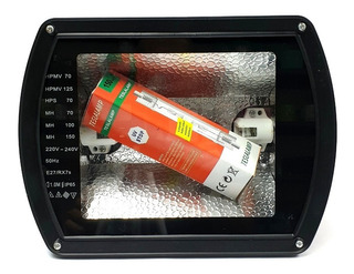 Reflector 150w Metal Halide 220v Con Bombillo De Ampolla