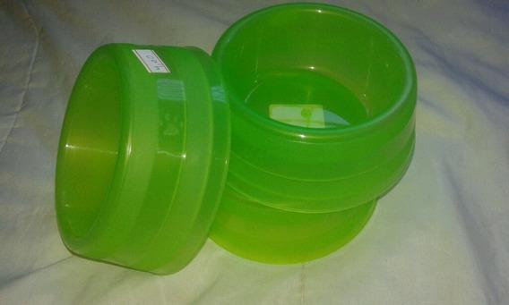 Comedouro/bebedouro Luxo Transparente (verde)