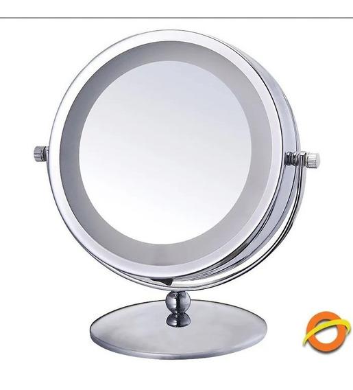 Espejo Doble Anillo De Luz Led De Mesa Belleza Maquillaje Make Up