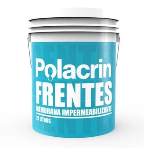 Imagen 1 de 10 de Polacrin Membrana Frentes Y Muros 20 Lts Blanca Envio Gratis