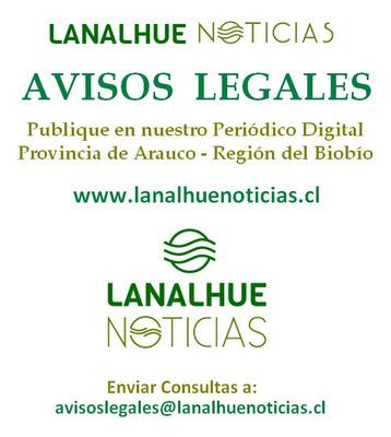 Publicación De Avisos Legales, Provincia De Arauco