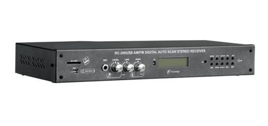 Receiver Amplificado Nca Stereo Rc-200 Usb Am-fm