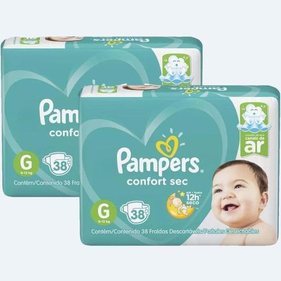 Fralda Pampers Confort Sec Tamanho G Com 76 Unidades