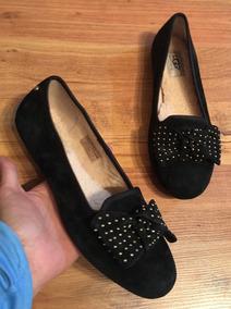 Increíbles Zapatos Flats Ugg Chispy Ribbon Negros 24!!
