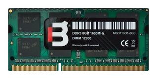 Blackpcs Sodimm Ddr3 Memoria Ram 8gb 1600mhz 1.5v Msd11601-8