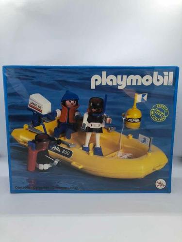 Playmobil Vintage Trol Lancha A Motor Con Buzos Doestoys