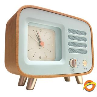Reloj Despertador Alarma Parlante Bluetooth Retro Vintage