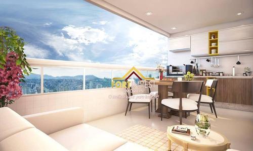 Apartamento Com 3 Dormitórios À Venda, 107 M² Por R$ 616.742,00 - Vila Caiçara - Praia Grande/sp - Ap0165