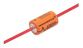 Bateria 3,6v 1200mah Lithium 1/2aa Com Terminais Minamoto