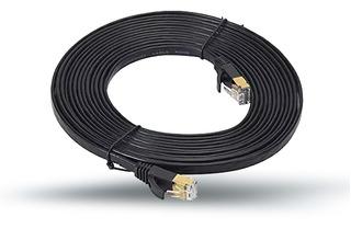 Cable Red Plano Categoria 7 Cat7 Rj45 Utp Ethernet 10 Metros