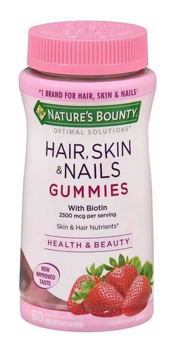 Hair, Skin & Nails Biotin 80 Gomas - Unidad a $738