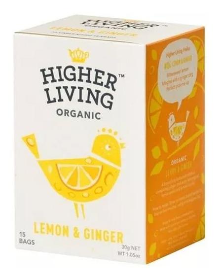 Té Orgánico Limón Jengibre Higher Living A0003059