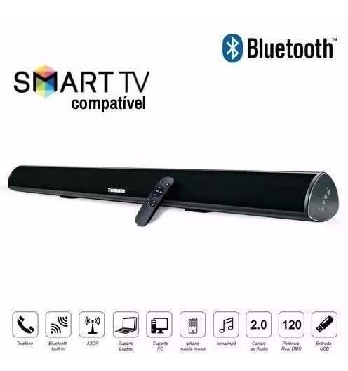 Caixa Som Sound Bar P/ Tv C/ Bluetooth 120w Tomate Controle