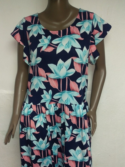 Vestido Floreado Talla Plus 1xl 2xl