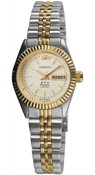 Relógio Feminino Prata E Dourado Orient Pequeno Automático