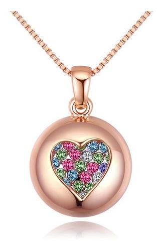 Imagen 1 de 4 de Collar Corazón Con Cristales De Zirconia - 1053