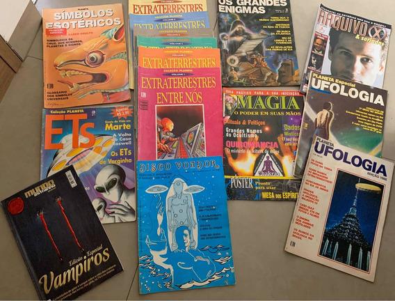 15 Revistas Planeta, Ufologia, Magia, Ficção-raridade