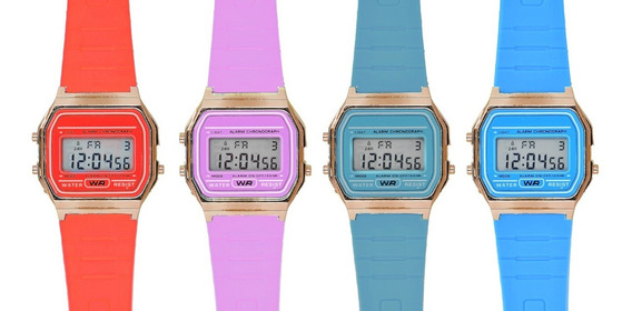Reloj Retro Digital Colores Sin Marca