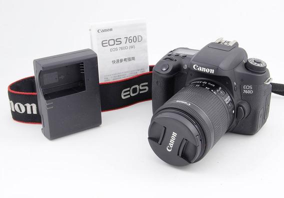 Canon 760d Con 18-55 Stm T6s