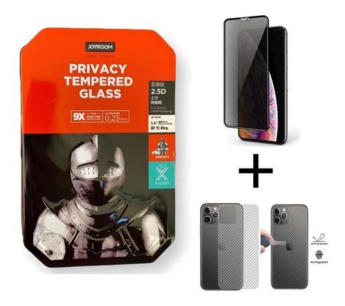 Vidrio Templado Antiespia Joyroom iPhone 11 + Obsequio