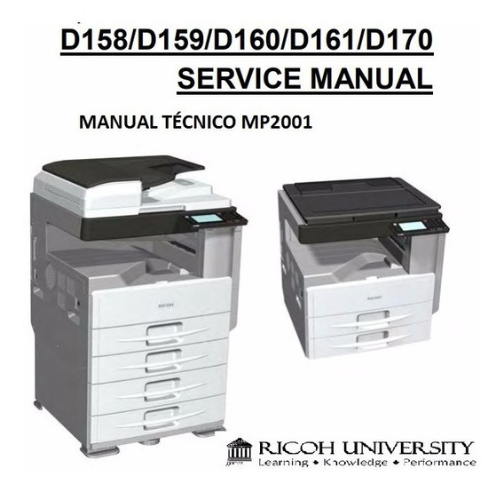 Manual Técnico Ricoh Mp2001 Envio Por Download