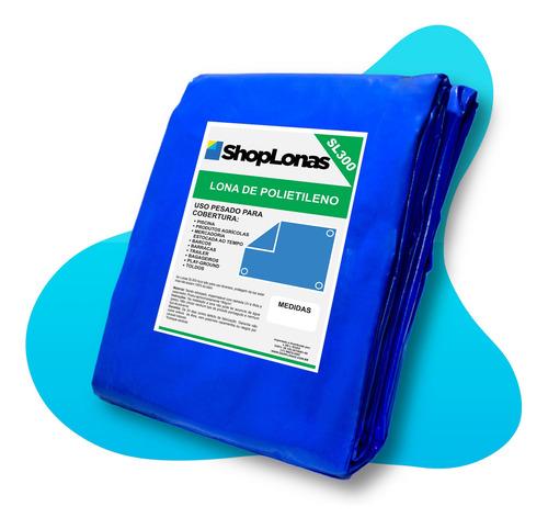 Imagem 1 de 4 de Lona Azul Sl300 Micras Cobertura Multiuso Telhado 4x3 Mt
