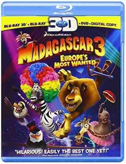Blu-ray 3d : Madagascar 3: Europe