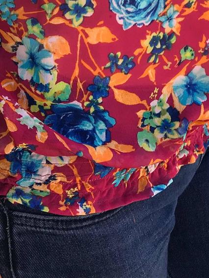 Blusa Estampado Con Escote En Las Mangas