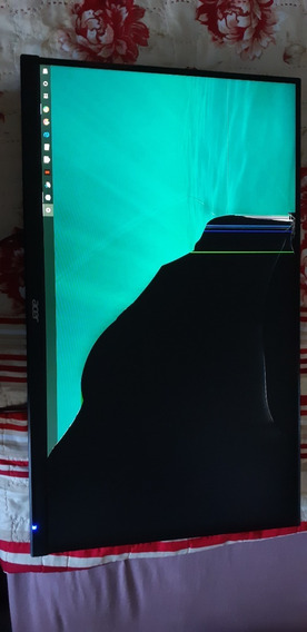 Monitor Led 27 Polegadas Acer Novo Com Display Trincado