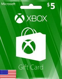 Tarjeta Regalo Xbox Live Gift Card Usa $5 Usd Digital