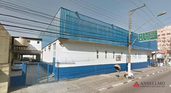 Galpão Para Alugar, 1750 M² Por R$ 80.000,00/mês - Centro - São Bernardo Do Campo/sp - Ga0350