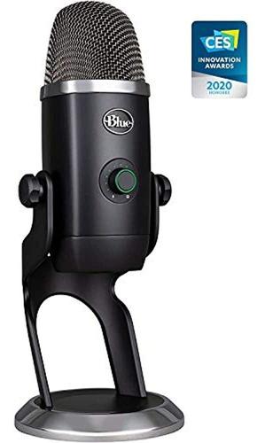Microfono Usb Azul, Gris Oscuro, Un Nombre (988-000105)